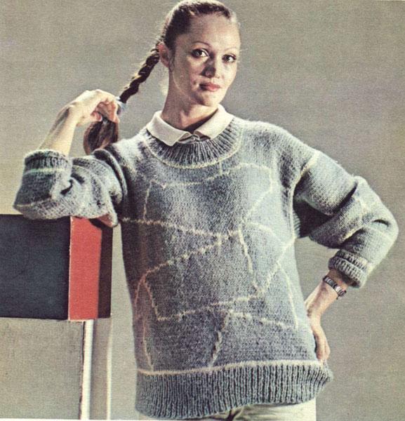 Описание: схема вязания свитера летучая мышь.
